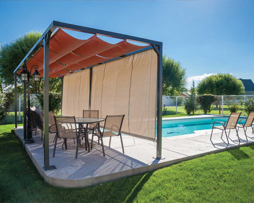 Canopies And Tarps : Slide wire cable canopies sugarhouse awning